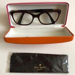 Kate Spade red tortoise optical glasses
